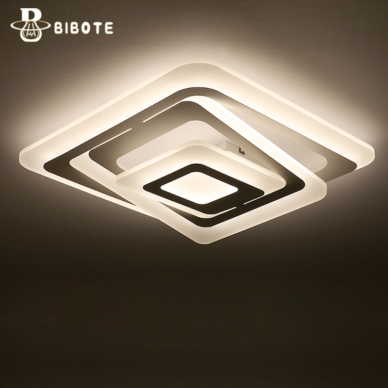 Modern Led Acrylic Ring Ceiling Light Lamp With Remote Control Lampara Techo Living Room Bedroom Lights Lustre Home Lighting