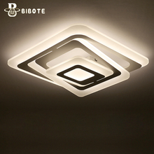 modern led acrylic ring ceiling light lamp with remote control lampara techo living room bedroom lights lustre home lighting стоимость