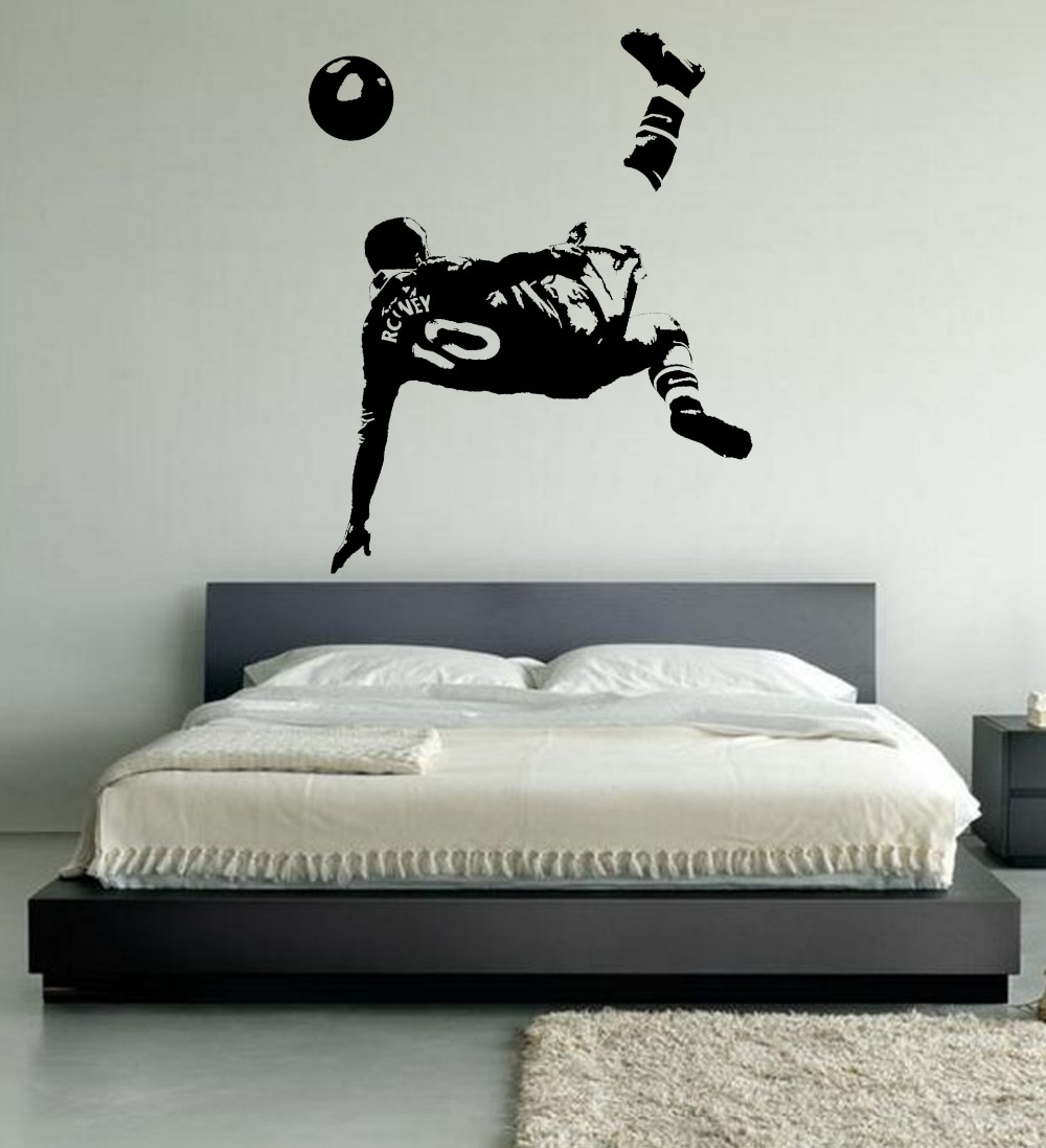 LARGE WAYNE ROONEY WALL ART BEDROOM FOOTBALLER FOOTBALL SOCCER STICKER  BEDROOM DECORATION WALL DECALS 4 SIZES In Wall Stickers From Home U0026 Garden  On ...
