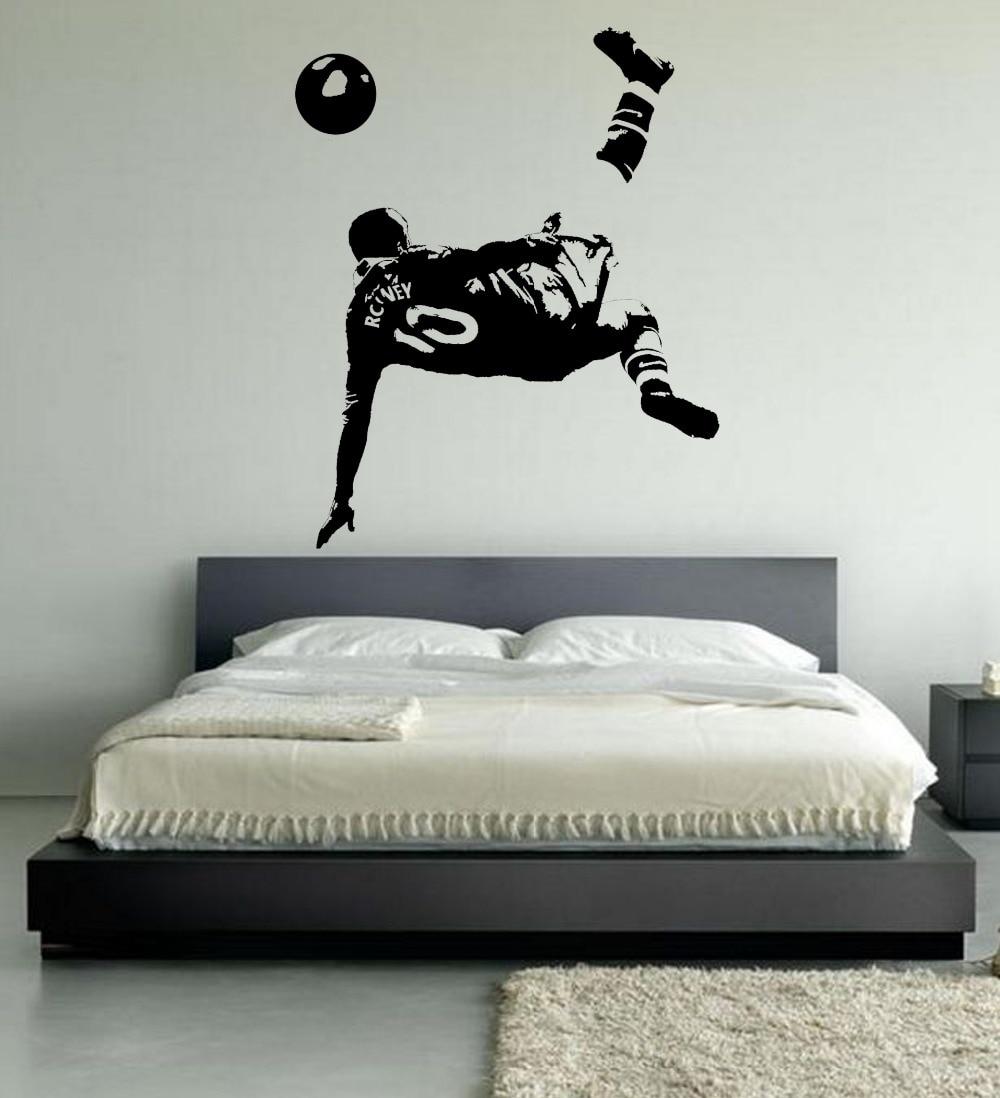 LARGE WAYNE ROONEY WALL ART BEDROOM FOOTBALLER FOOTBALL SOCCER ...