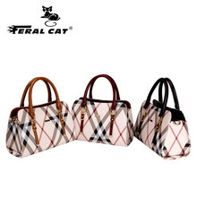 FERAL CAT Womens Leather Crossbody Bags Messenger Shoulder Bag Women Brand Fashion Handbags Bolsa feminina Elegant Ladies