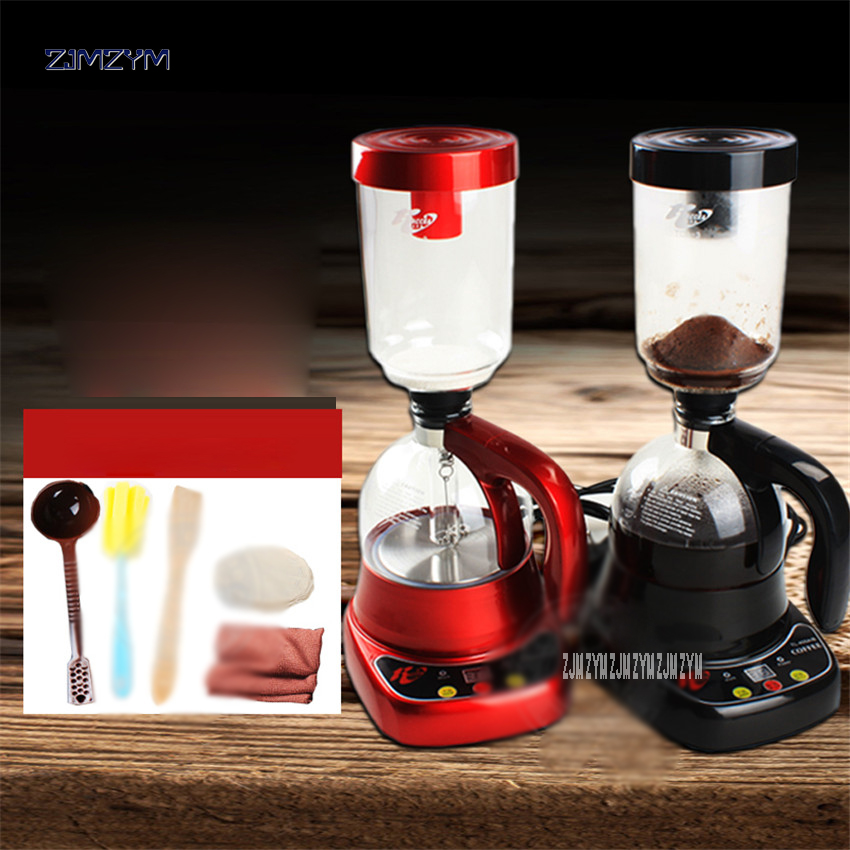 Household coffee maker Electric Siphon coffee machine Drip tea Siphon Pots glass Hourglass American Coffee TCA-3 400ML Capacity japanese style siphon coffee maker tea siphon pot vacuum coffeemaker glass coffee filter coffee grinders coffee set