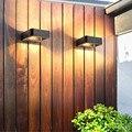 Thrisdar 7 Вт наружные водонепроницаемые Настенные светильники для крыльца  алюминиевые квадратные настенные светильники для сада  балкона  ви...