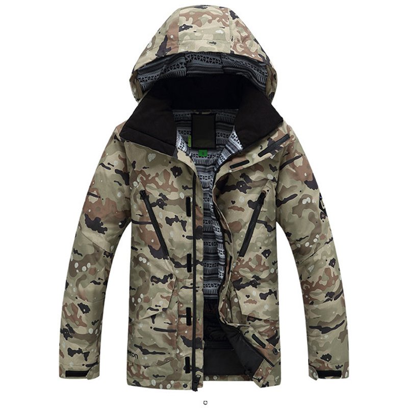 In 2016 the latest male ski ski jacket multi color combination wind waterproof jacket winter ski