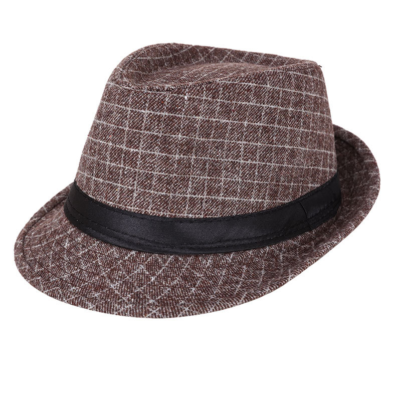 Stylish Hat Summer Straw Hat Men Sun Cap topee Fedora Trilby Panama Hat Jazz Cap Billycock Autumn And Winter New Style Korean-St