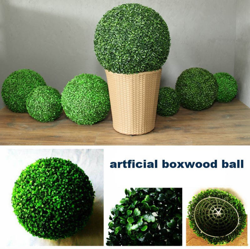 New 55cm Artificial Milan Grass Topiary Balls Out/Indoor Hanging Boxwood Ball Wedding Party Home Yard Garden DIY Decoration
