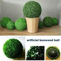 Nowy 55 cm Sztuczne Milan Trawie Topiary Piłki Out/Kryty Wiszące Bukszpan Ball Wesele Dom Yard Ogród DIY dekoracji
