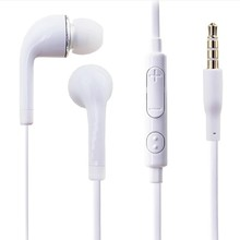 Wholesale 3.5mm In-Ear Earphones headphone With Microphone For Samsung S4 S3 S HTC