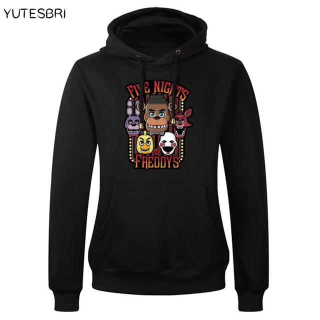 Cinco Noites No Freddy Jogo Hoodies Homens O Pescoço Streetwear Camisola Para Homens masculino freddy urso FNAF Quente