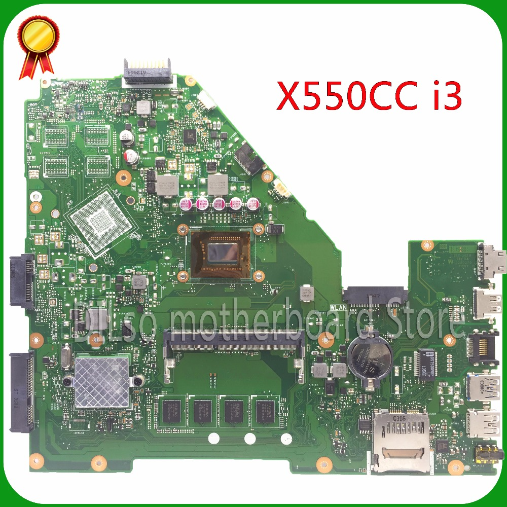 KEFU X550CC For ASUS X550CC X550CA Laptop motherboard X550CC mainboard REV2.0 integrated i3 cpu 100% tested original motherboard for asus x55vdr motherboard 4g ram i3 cpu rev3 1 100% tested integrated original new motherboard