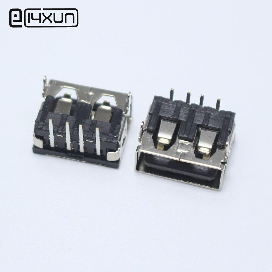10 шт. DIP USB Type A гнездовой разъем 90 градусов 4PIN AF 10,0 PCB монтажный Разъем плоский край DIY ремонт телефон игрушки запчасти