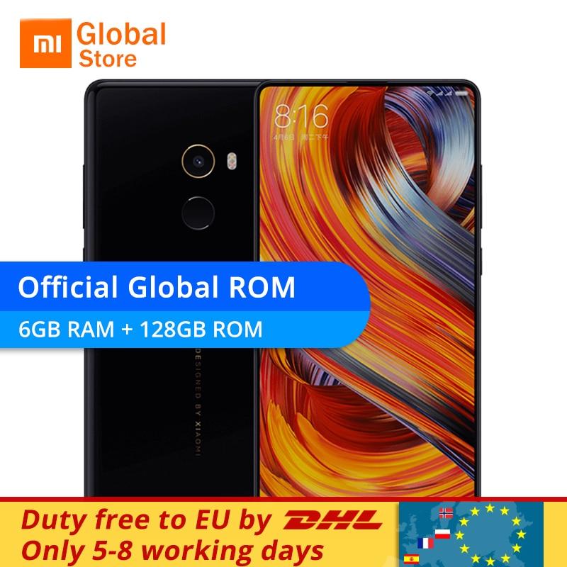 Global ROM Original Xiaomi Mi Mix 2 Mix2 6GB 128GB Snapdragon 835 Octa Core Mobile Phone 5.99
