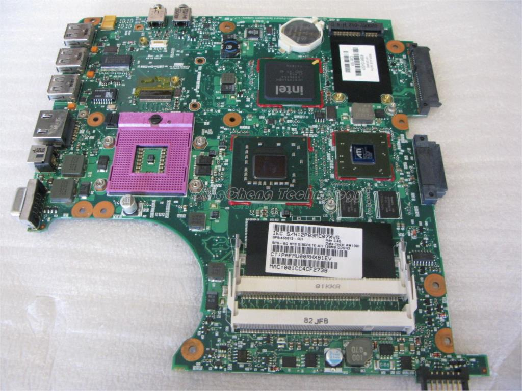 все цены на  45 days Warranty For hp 6820S 6520s 456613-001 laptop Motherboard for intel cpu with  PM965 non-integrated graphics card  онлайн
