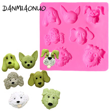 Dog Head Silicone Cake Mold Fondant Decorating Tools Food Grade Wedding Stand Silikon Form For Soap Chocolat