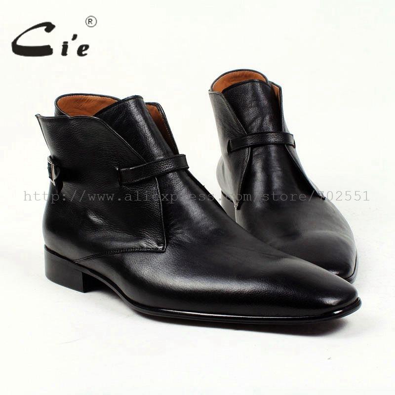 Cie ساحة تو عادي الصلبة بيبل الحبوب الأسود جلد العجل التمهيد 100% جلد طبيعي تنفس تسولي مفصل الرجال التمهيد a88-في أحذية برقبة أساسية من أحذية على  مجموعة 1