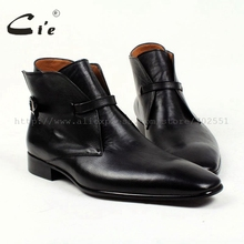 cie square plain toe solid pebble grain black calf leather boot 100%genuine leather breathable outsole bespoke men's boot  A88 cie square plain toe whole cut patina dark brown custom calf leather outsole breathable bespoke leather men shoe handmade ox415