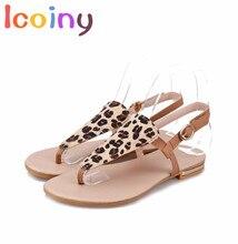 Гладиатор Сандалии для Женщин 2017 Летом Женщины Leopard Квартиры Шлепанцы женская Обувь Богемии Пляжные Сандалии Zapatos Mujer