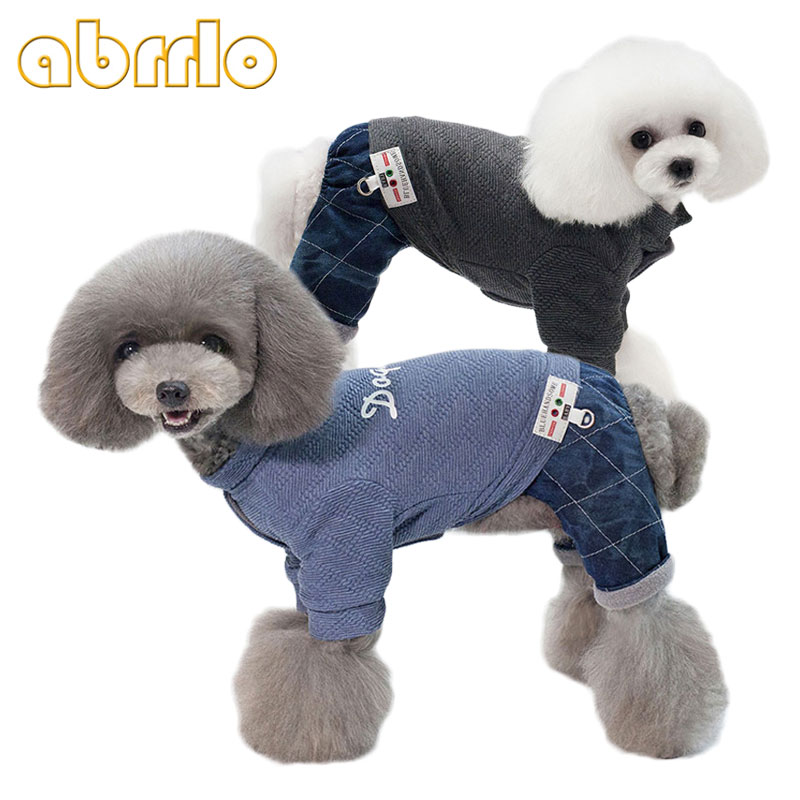 Abrrlo Dog Pajamas Pets Winter Clothes Soft Warm Fleece Dog Jumpsuit For Small Dogs Shih Tzu Yorkies 5 Styles Camouflage Bow Jumpsuits & Rompers