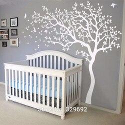 2019 gran pegatina adhesiva para pared de árbol blanco para pared calcomanías de árbol de guardería pegatinas de pared para niños habitaciones 213X210CM tatuaje de pared regalo