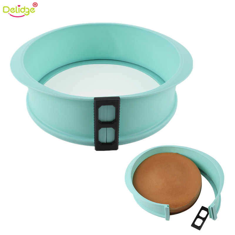 Delidge Round Shape Silicone Cake Mold With Glass For Mousse Ice Creams Chocolates Pastry Art Pan Bakeware Cake Tools Big Sale
