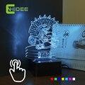 Cnhidee inovador USB 3D para Raptor Toronto RGB LED lâmpada , presentes criativos