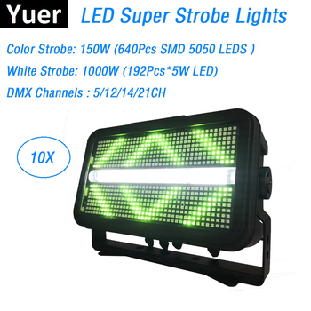 Free Shipping 192X5W White LED Flash Lights With 640Pcs SMD5050 RGB 3IN1 LEDS Super Strobe DMX512