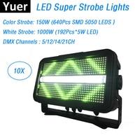 Free Shipping 192X5W White LED Flash Lights With 640Pcs SMD5050 RGB 3IN1 LEDS Super Strobe Lights DMX512 Strobe Flash Lights