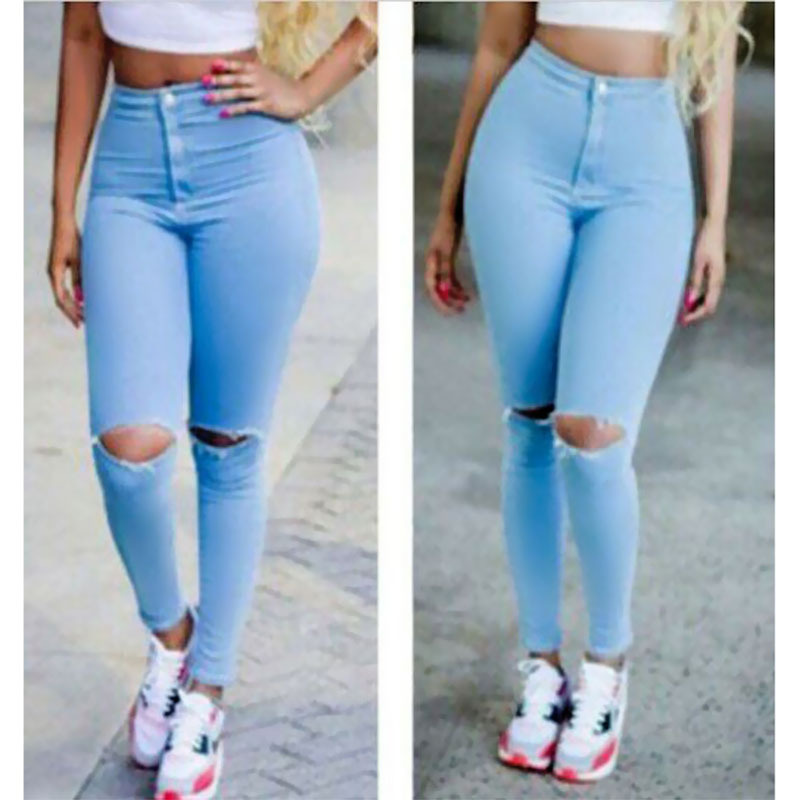 Aliexpress.com : Buy 2015 High Waist Jeans Women Skinny Pencil ...