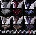 Цветочные пейсли шелковый Ascot карманный площадь галстук свободного покроя жаккардовые платье шарфы-бесплатная шарф связи тканые ну вечеринку Ascot платок комплект B2