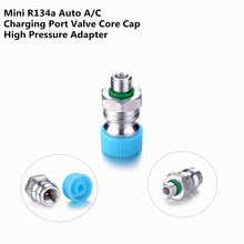 Aluminium Alloy Universal R134A High Voltage Auto A/C 3/8 Charging Port Valve Core Cap Adapter for Automobiles Air Conditioner