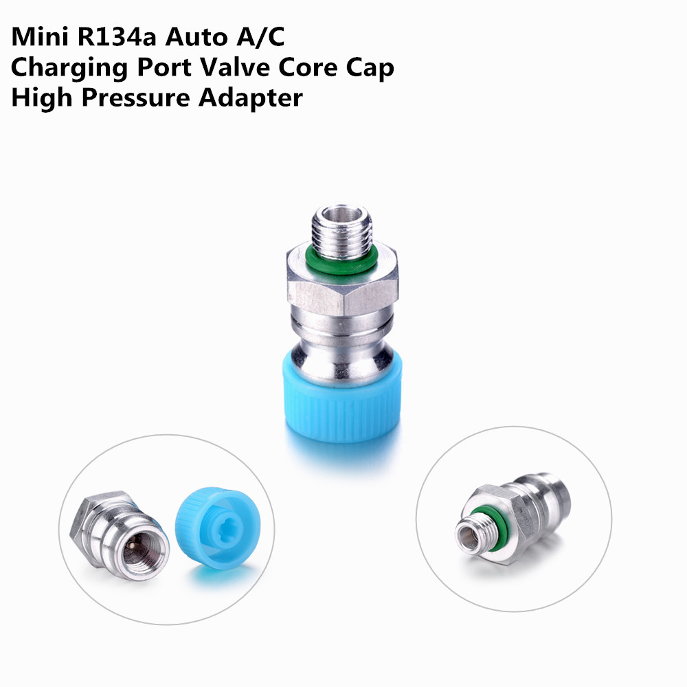 Universal Aluminium Alloy R134a High Voltage Auto A C 3 8 Charging Port Valve Core Cap Adapter for Automobiles Air Conditioner in Air conditioning Installation from Automobiles Motorcycles