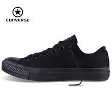 Original Converse all star de los hombres y de las mujeres zapatillas de deporte para hombres mujeres zapatos de lona que todo negro low classic Skate zapatos
