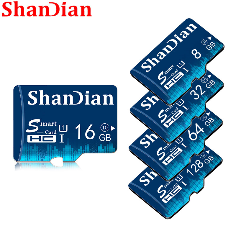 SHANDIAN Original  Full Size Sd Card 4GB 8GB 16GB 32GB 64GB Real Capacity Memory Card For Camera With Retail Package