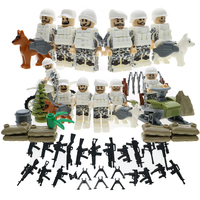 WW2 Military Series Block Figure Snowmobile Soviet Army Swat Team Super Hero Building Blocks Toy Compatible