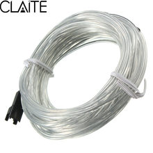 CLAITE 5M EL Tube Wire DC 12V Flexible Neon LED Flash Light String Waterproof Glow Rope Tube Lamp for House Party Decoration(China)