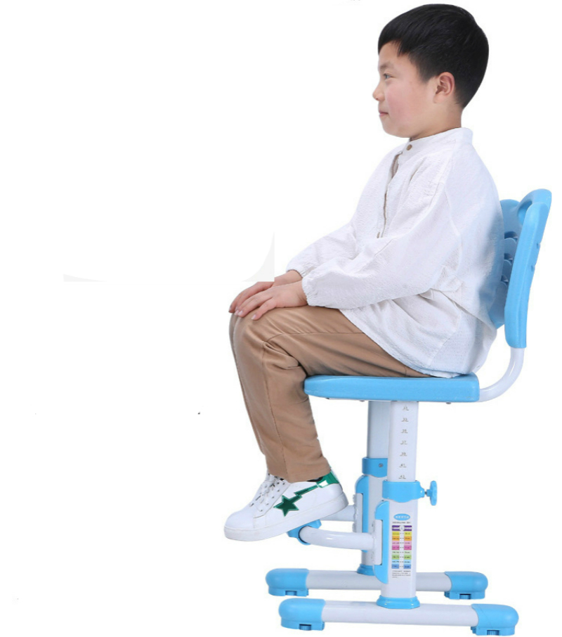 Household Child Study Chair Non-slipable With Footrest Student Writing Seat Lifted Multifunction Adjustable Stable Kids Stool