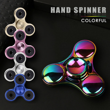 EDC Latest Multicolor Metal Fidget Puzzle Spinner Hand Rainbow Finger Stress Relieve Spinner Tri-spinner Adult Kid Toy Gyro