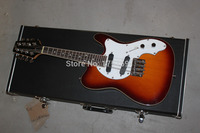 Factory sale Top Quality 8 Strings Solid Body MMT 1E, 20 Frets Morgan Monroe T Style sunburst Electric Guitar with case