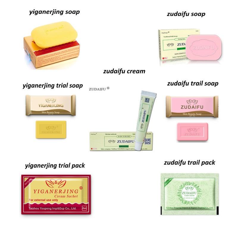 ZUDAIFU YIGANERJING Sulfur Soap Seborrhea Eczema Anti Fungus Soaps + Skin Conditions Acne Psoriasis Treatment ZUDAIFU Cream