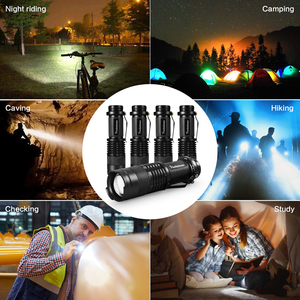 Image 5 - High quality Mini LED Flashlight Q5 2000LM Powerful Flashlight LED Laterna 3Modes Zoomable Portable 6Colors Torch