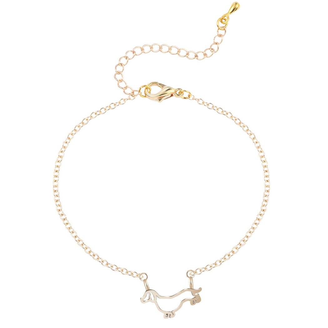 Todorova déclaration ethnique alliage de métal mignon doux teckel chien Bracelets amitié bijoux pour femmes filles chien amant cadeau