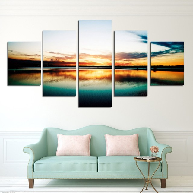 Free Shipping Landscape Ready To Hang Without Frame Canvas Art Painting Modern Abstract Oil Seascape Home Decoration