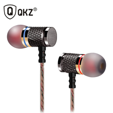 QKZ HiFi Metal Heavy Bass In Ear Earphone Sound Quality Music Professional Mobile Phone  Earphone Headset fone de ouvido DM6