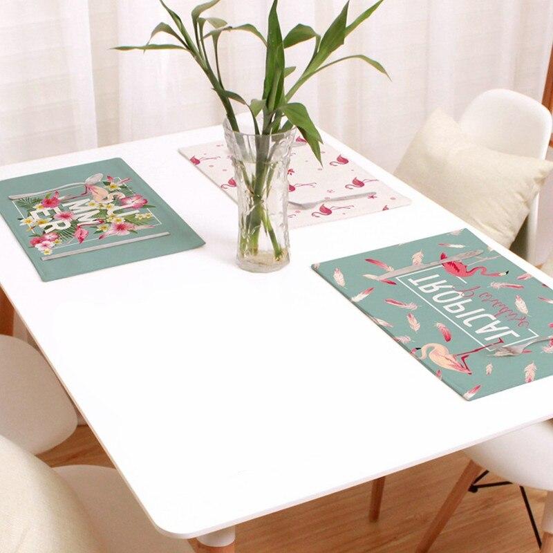 Flight Tracker 44 Cm * 28 Cm Flamingo Gedrukt Servetten Linnen Diner Servet Theedoek Thee Koffie Thuis Decoratie Westerse Tafel Mat Party Favor