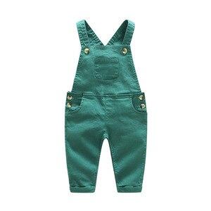 Image 4 - Barboteuse pour nouveau né garçon fille, tenue de printemps pour bébé, body + pantalon à bretelles, barboteuse pour enfant, à manches longues