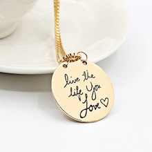 Popular new round love you love necklace sweater chain creative boutique Z3197