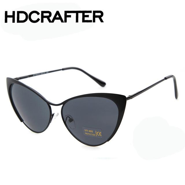 Revestimento de óculos de sol das mulheres cat eye sunglasses rodada armação dos óculos espelho moda óculos de sol do vintage óculos femininos