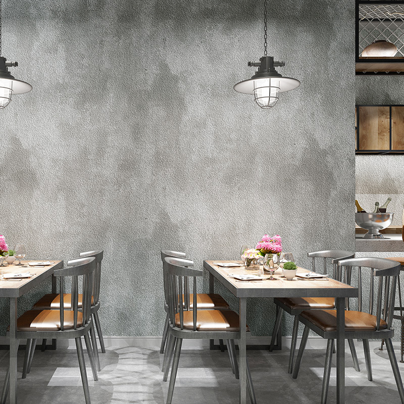3D Retro Solid Color Cement Grey Wallpaper For Walls Roll Living Room Bar Cafe Restaurant Clothing Shop PVC Waterproof Wallpaper