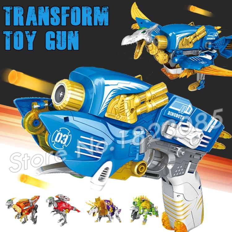 Toy Pistol Gun Jurassic World Soft Bullet Plastic Toys Air Guns Same as N-Strike Dinosaur Transformation Pterosaurs Bursts