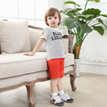 hot sale new 2016 casual boys clothing set 2 year old boys clothes summer o-neck cotton short sleeve boys lettered tracksuits